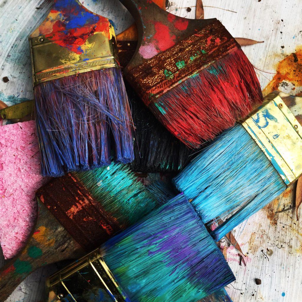 pinceaux, peinture, plaisir, détente, gestion du stress