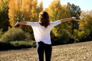 femme détendu, heureuse, gestion du stress