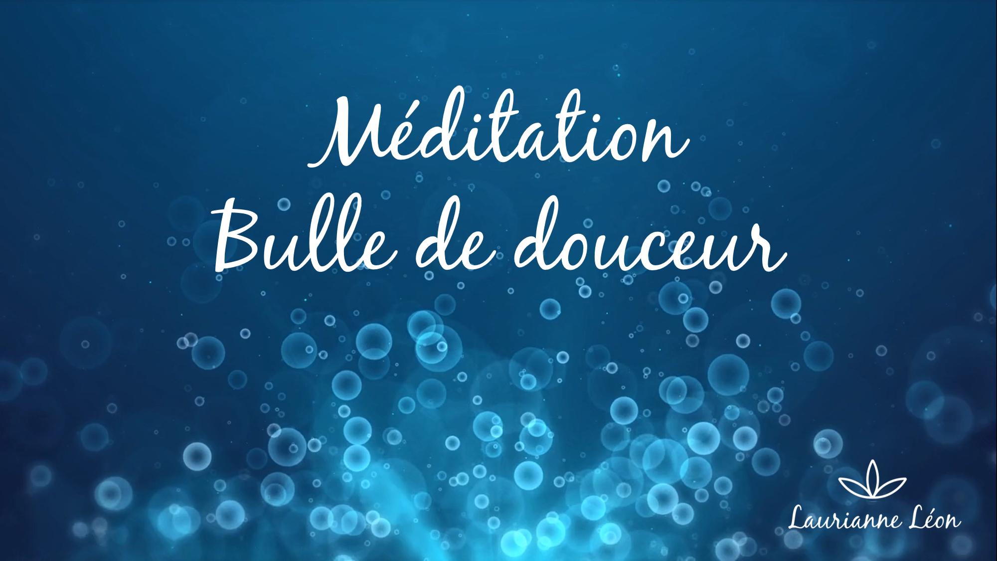 Couverture Méditation Bulle de douceur